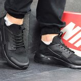 Бесплатная доставка. Бомба Мужские кроссовки Nike Huarache Black. KS 013