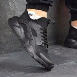 Топ качество. Бесплатная доставка. Мужские кроссовки Nike Huarache Black. KS 013