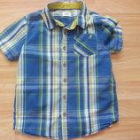 Фирменная рубашка F&F малышу 5-6 лет состояние отличное