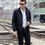 Мужская куртка демисезонная, черная L - XXXL