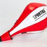 Груша набивная каплевидная подвесная Sportko GP-3 вес 8кг, PVC