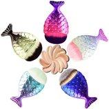 Кисть для макияжа рыбий хвост, русалка, ракушка, рыбка - кисточка для макияжа, разные расцветки