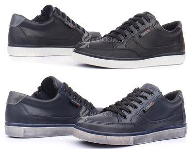 Кожаные кеды Ecco слипоны на шнуровке и молнии из натуральной кожи синие и черные