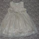 платье нарядное сток 1 - 2 года девочке Джорж большой выбор одежды 1-16лет