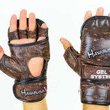 Перчатки гибридные для единоборств MMA Kanpeki 5780 размер M-XL, кожа