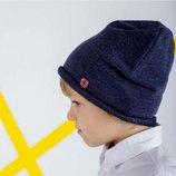 Демі шапка для хлопчика Нельсон сіра, синя