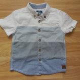 Новая фирменная рубашка F&F малышу 1-1,5 года