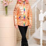 Яркая куртка-жилет для девочки 116-146р