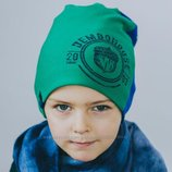 DemboHouse. Демі шапочка для хлопчика Колт синьо-зелена