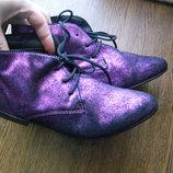 36 - 23 см кожа ботинки новые andre made in italy
