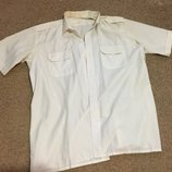 Белая мужская рубашка -сорочка Mercury короткий рукав