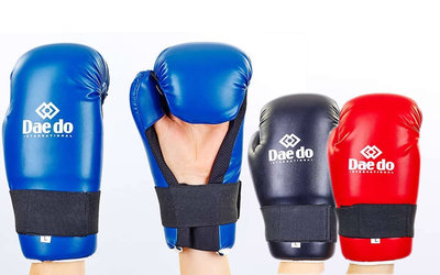 Перчатки для тхэквондо/накладки тхэквондо защита кисти Daedo 5823 размер S-L 3 цвета