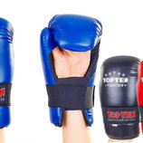 Перчатки для тхэквондо/накладки тхэквондо защита кисти Top Ten 5474 размер S-L 3 цвета