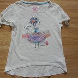 Фирменная футболка Next малышке 3 года
