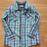 Фирменная рубашка F&F малышу 2-3 года состояни отличное
