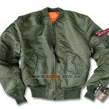Куртка MA-1 Alpha Industries оливковая