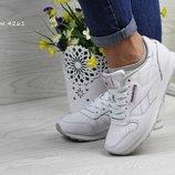 Женские,подростковые кроссовки Reebok Classic,белые