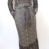 Длинное платье на пуговицах Classic Fashion