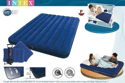 Матрац INTEX 68765, 152 x 203 x 22 см подушки и насос