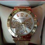 Часы женские наручные Pandora Gold с тремя циферблатами