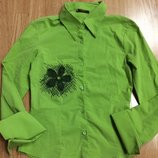 Яркая стильная рубашка из натуральной ткани на девочку подарок