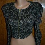 Леопардовая накидка, болеро, пиджак