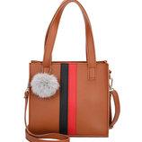 Модная аккуратная сумка на каждый день, с помпоном В Наличии