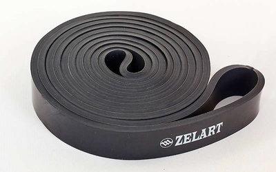 Резина для фитнеса резинка для подтягиваний Power Bands 3917-BK мощность XS, 2080x20x4,5мм