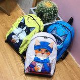 Большие оригинальные рюкзаки со стильными котами В Наличии