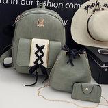 Восхитительный набор оригинального дизайна, рюкзак, сумка, визитница В Наличии