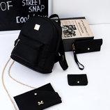Оригинальный набор 4в1 для современных девушек, рюкзак, клатч, косметичка, визитница В Наличии