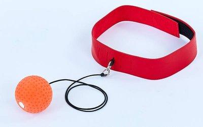 Теннисный мяч на резинке боксерский Fight Ball 7108 с повязкой на голову пневмотренажер