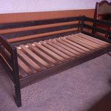 Кровать Нотка 90 190 натуральное дерево