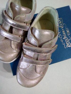 Zecchino Doro.ИталияКроссовки кожаные для девочки перламутровые фиол