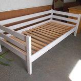 Деревянная Кровать 80 на 190 эффект выбеленное дерево