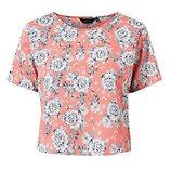 Блузка New Look кроп топ цветочный принт crop top, размер M-L