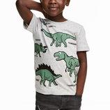 Футболки серые с динозавром H&M