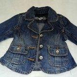 Джинсовая куртка джинсовый пиджак на 12-18 мес. 1,5-2-3 года