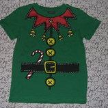 футболка новогодняя хб 5лет Некст большой выбор одежды 1-16лет