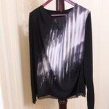 Дизайнерская стройнящая блуза натуральный шелк вискоза elie tahari