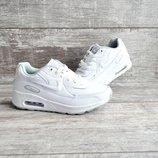 Кроссовки подростковые Nike Air Max белые