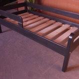 Кровать детская подростковая Эконом плюс 80 160 с доп. защитой