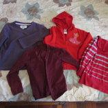 Теплая кофта на девочку 5-6 лет