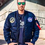 Летная куртка NASA MA-1 Flight Jacket Alpha Industries синяя