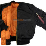 Куртка бомбер MA-1 Alpha Industries черная