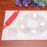 Антипригарный силиконовый коврик 60-40 см для запекания,раскатки теста,пергамент