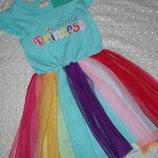 новое платье на девочку 5 6л