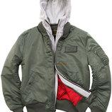 Куртка-Бомбер MA-1 D-TEC Alpha Industries оливковая
