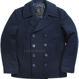 Пальто бушлат Navy Pea Coat Alpha Industries синее