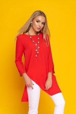 bc81f05288a Эффектная легкая блуза-туника с ассиметричными линиями низа 44-50р ...